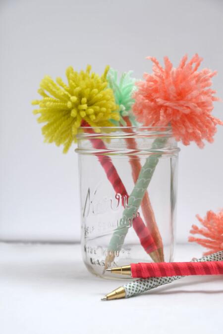 Handmade Gift Pom Pens Hearts And Sharts