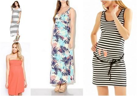 vestidos premamá para la playa