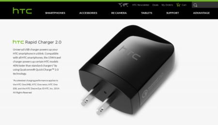 El cargador rápido de HTC llegará pronto