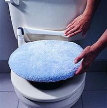 Traba de seguridad para la tapa del inodoro