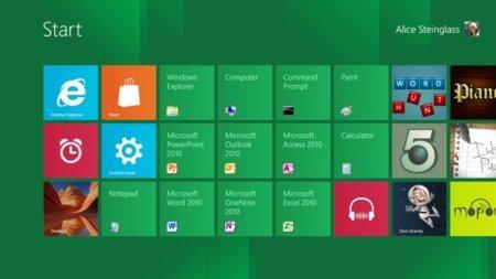Muchas aplicaciones en la pantalla de inicio de Windows 8