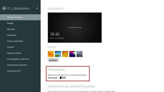 Personaliza w 8.1 |pantalla de bloqueo|