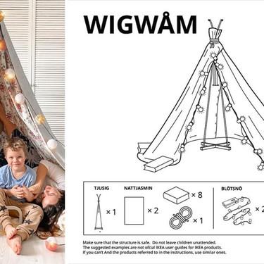 Los divertidos tutoriales de IKEA para construir mini castillos, tipis y tiendas de campaña en casa durante la cuarentena
