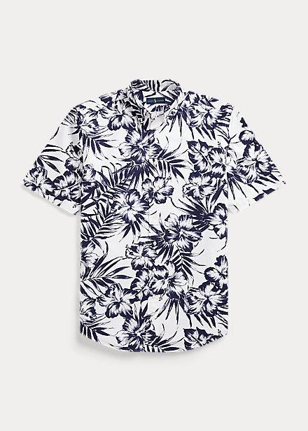 Camisa Oxford con estampado de flores