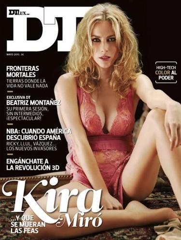 Kira Miró, íntima y seductora, en la revista DT