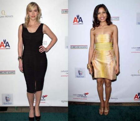 Kate Winslet y Freida Pinto en la gala US Ireland Alliance Pre-Oscar 2009