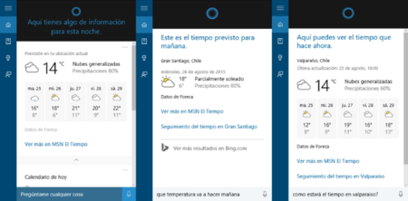Cortana Clima