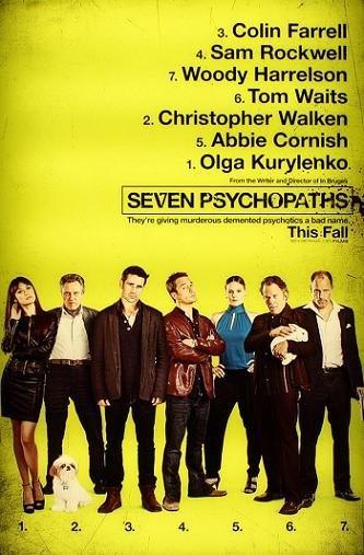 Imagen con el cartel de 'Seven Psychopaths'