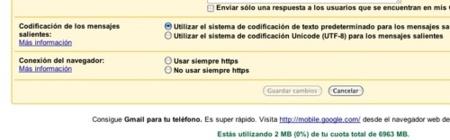 GMail ahora permite configurar el cifrado del tráfico de nuestras sesiones