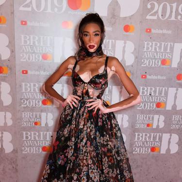 BRIT Awards 2019: Winnie Harlow se convierte en una de las más elegantes de la noche gracias a un vestido de flores