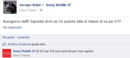 Actualización para Sony Xperia P