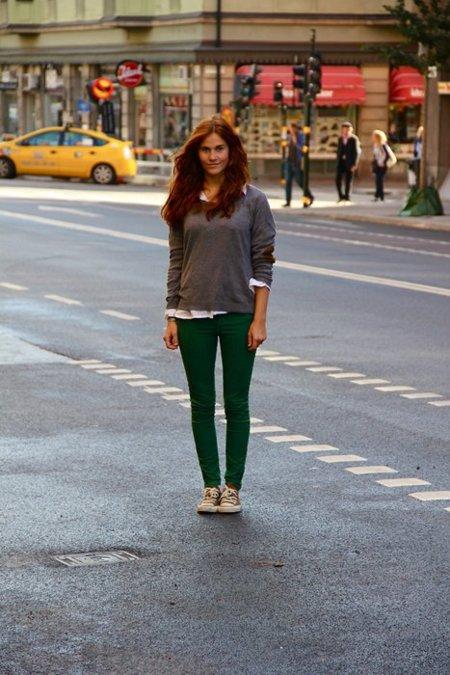Jersey gris verde moda