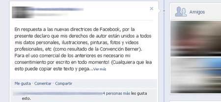El nuevo hoax de Facebook sobre el copyright de las fotografías