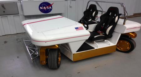 El coche autónomo de la NASA es descapotable y se puede manejar con un mando a distancia