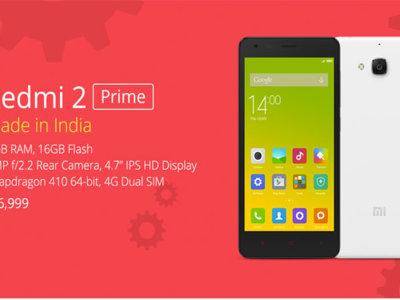 Xiaomi presenta el Redmi 2 Prime, su primer teléfono fabricado íntegramente en India