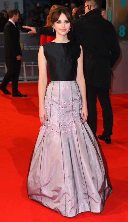 Felicity Jones Bafta 2015 Dior