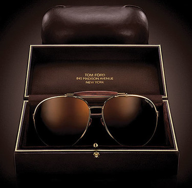 "Tom Ford y sus gafas de sol ""aviator"""