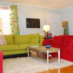 Foto 2 de 5 de la galería un-salon-en-rojo-y-verde en Decoesfera