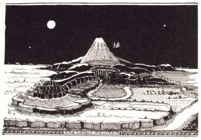 Dibujo de Tolkien