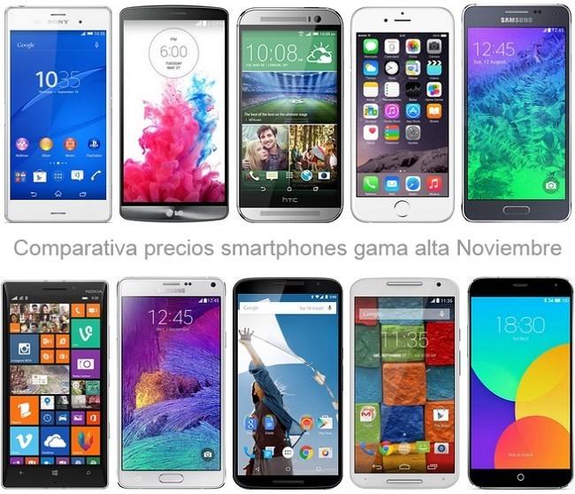 ¿Buscas teléfono de gama alta? Comparamos sus precios con los operadores o libres en noviembre