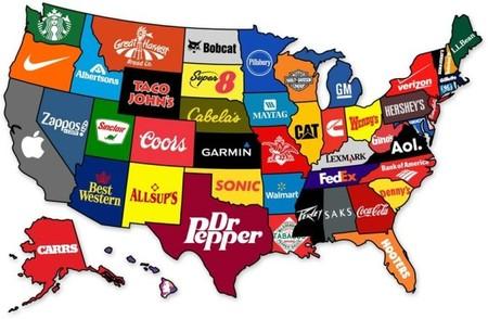 El Mapa De Estados Unidos Según Sus Principales Marcas - Mapa de usa