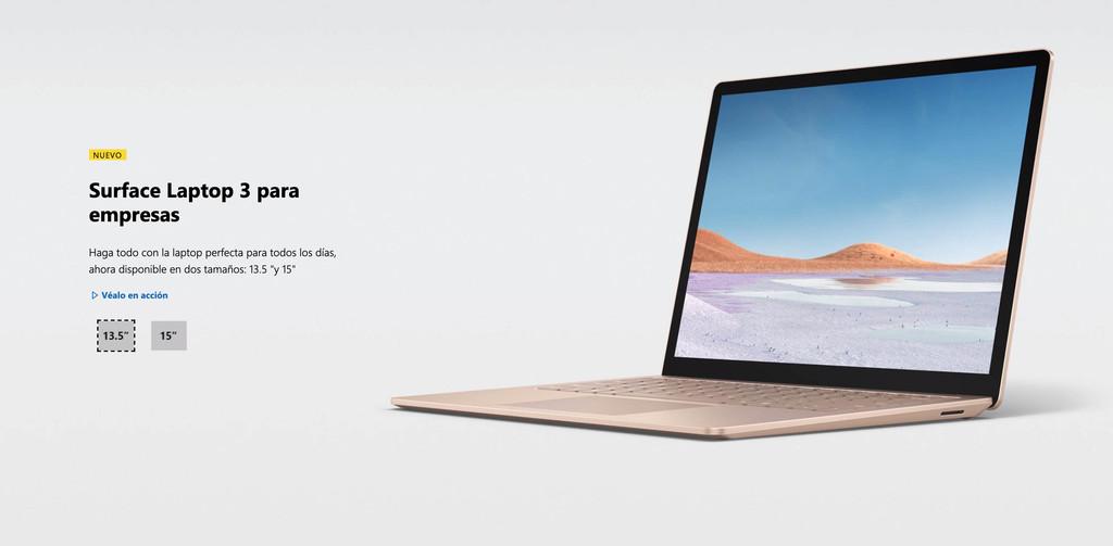 Habrá una variante de Surface Laptop 3 en 15 pulgadas y con SoC Ice Lake de Intel... pero sólo para empresas