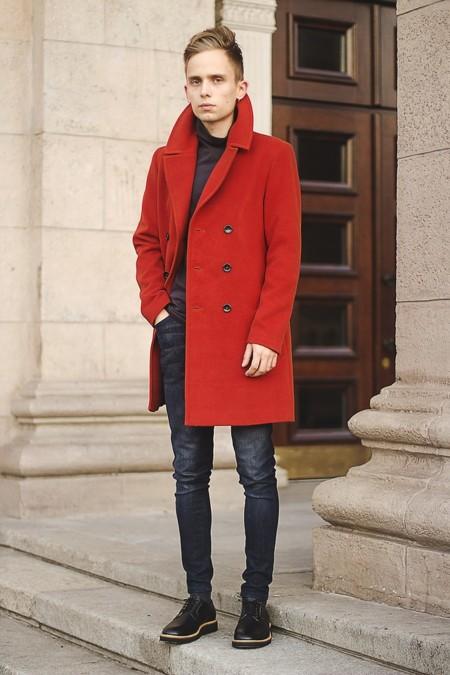 Outerwear Rojo Trendencias Hombre Invierno 2015