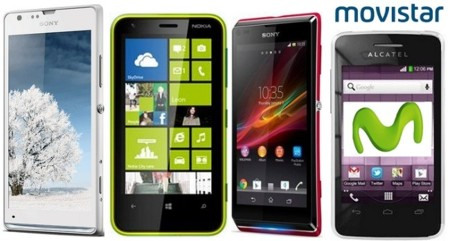 Prices Nokia Lumia 620, Sony Xperia SP, Xperia L and Alcatel T'Pop with Movistar