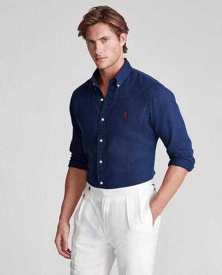Camisa De Hombre De Manga Larga Regular