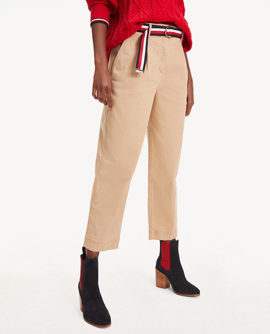 Pantalón de mujer chino con cinturón