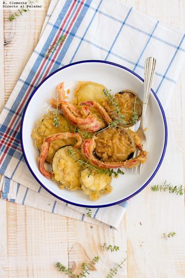 Ratatouille en tempura: receta