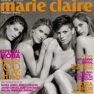 Las modelos españolas se desnudan en Marie Claire