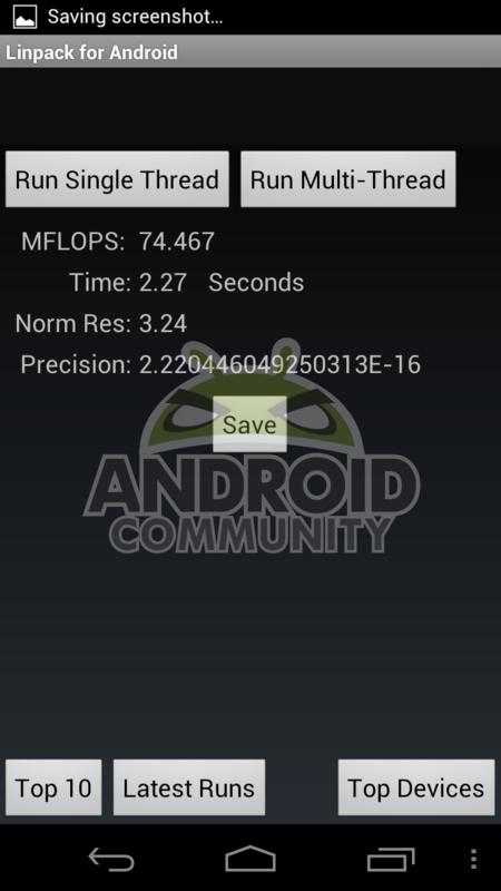 Benchmarks Galaxy Nexus