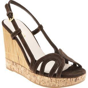 Prada: Sandalias con suelas de bambú
