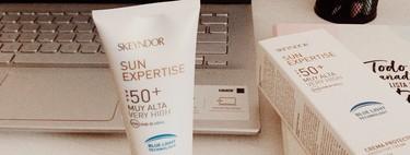 Esta crema especial para pieles sensibles de Skeyndor no solo me protege del sol, sino también dentro de casa de la luz azul