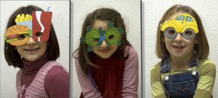 ¿Os gustan estas bonitas gafas de Carnaval para niños?