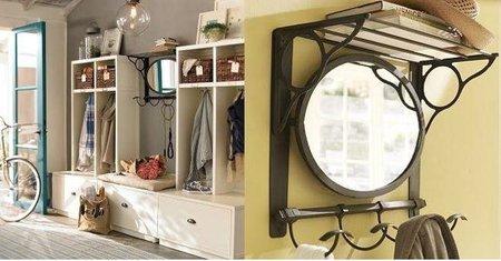 Un bonito espejo vintage para la entrada o el dormitorio