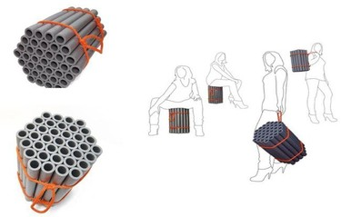 Recicladecoración: asientos de tuberías de polipropileno