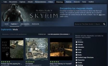 Valve echa marcha atrás y retirará los mods de pago de su Steam Workshop