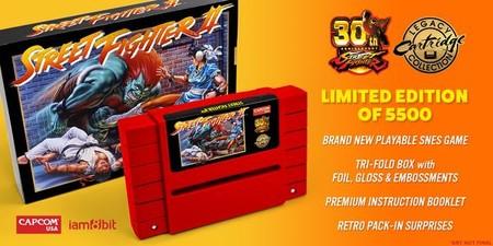 Capcom lanza una nueva tirada de cartuchos de Street Fighter II para SNES... y recomienda usarlos junto a un extintor