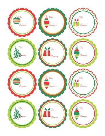 Más tarjetas de Navidad para etiquetar los regalos