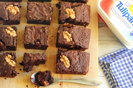 Brownies de chocolate y nueces. Receta con Tulipan
