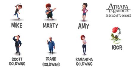 Los personajes de