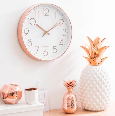 Reloj Blanco Y Cobrizo D 31