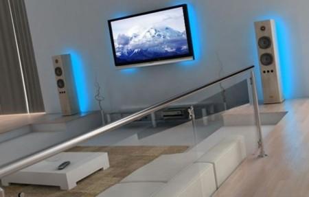 """Juego de luces para la televisión para crear """"ambiente"""""""
