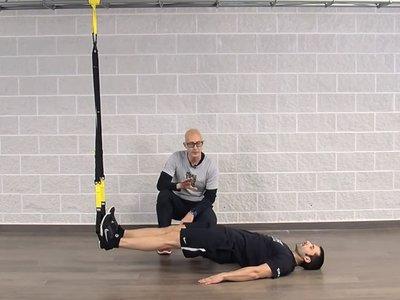 Plancha supina en TRX: un ejercicio seguro para trabajar los músculos de la cadena posterior