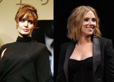 Dos celebrities, dos cambios de look : Scarlett Johansson y Angelina Jolie