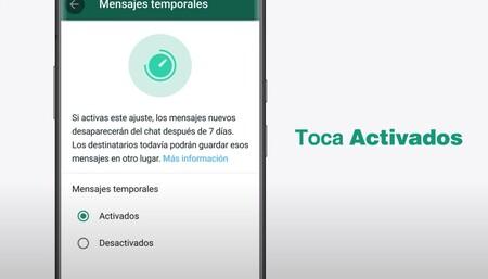 WhatsApp prepara más cambios: mensajes temporales que se borran a los 90 días y una vista previa de enlaces mejorada