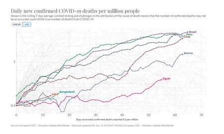 Muertes Por Millon De Habitantes Pobres