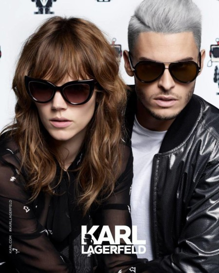 Baptiste Giabiconi Karl Lagerfeld Spring Summer 2016 Eyewear Campaign 001